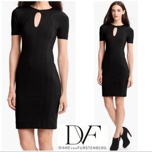 Diane Von Furstenberg Keyhole Shift Dress Black 6